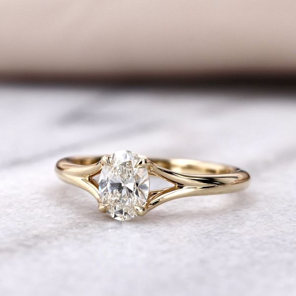 0.70ct Forevermark Oval Diamond Engagement Ring 18kt Yellow Gold Image 4 La Mine d Or Moncton, NB