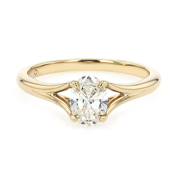 0.70ct Forevermark Oval Diamond Engagement Ring 18kt Yellow Gold La Mine d Or Moncton, NB