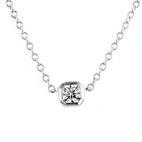 0.36ct Forevermark Black Label Square Diamond Bezel-Set Necklace La Mine d'Or Moncton, NB