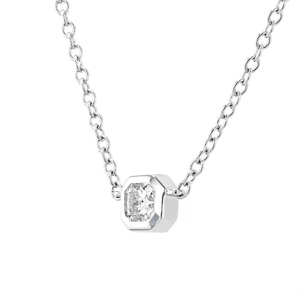 0.36ct Forevermark Black Label Square Diamond Bezel-Set Necklace Image 2 La Mine d'Or Moncton, NB