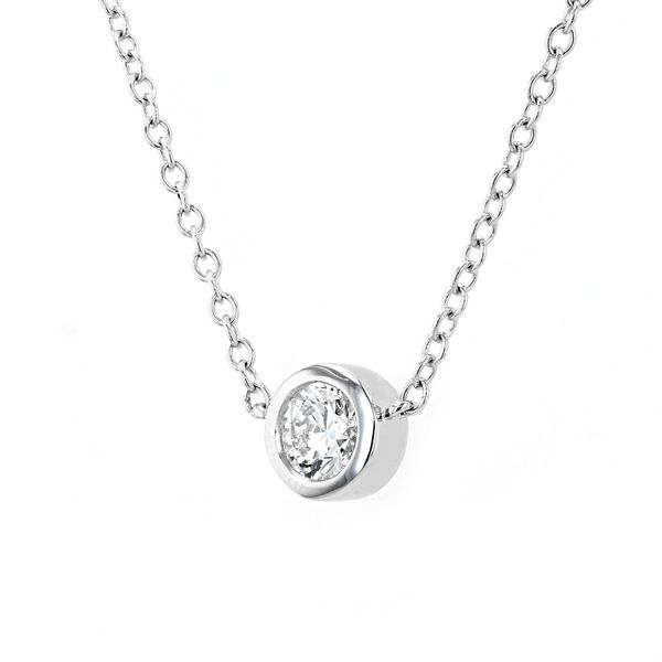 0.51ct Forevermark Black Label Round Diamond Bezel Set Necklace Image 2 La Mine d'Or Moncton, NB