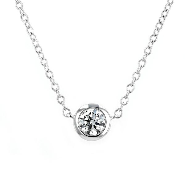 0.51ct Forevermark Black Label Round Diamond Bezel Set Necklace La Mine d'Or Moncton, NB