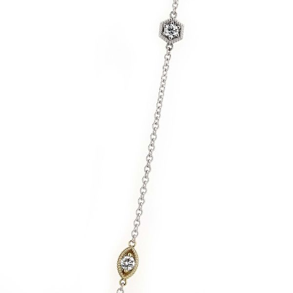 0.70tw Forevermark Eight Stone Dangle Diamond Necklace Image 2 La Mine d'Or Moncton, NB