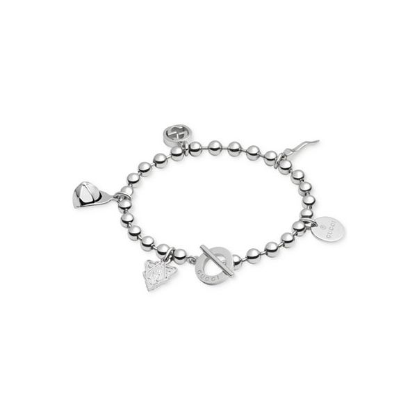 Gucci Sterling Silver Boule Bracelet with Multi Charms La Mine d'Or Moncton, NB