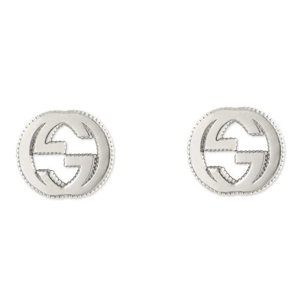 Gucci Interlocking G Sterling Silver Stud Earrings La Mine d Or Moncton, NB