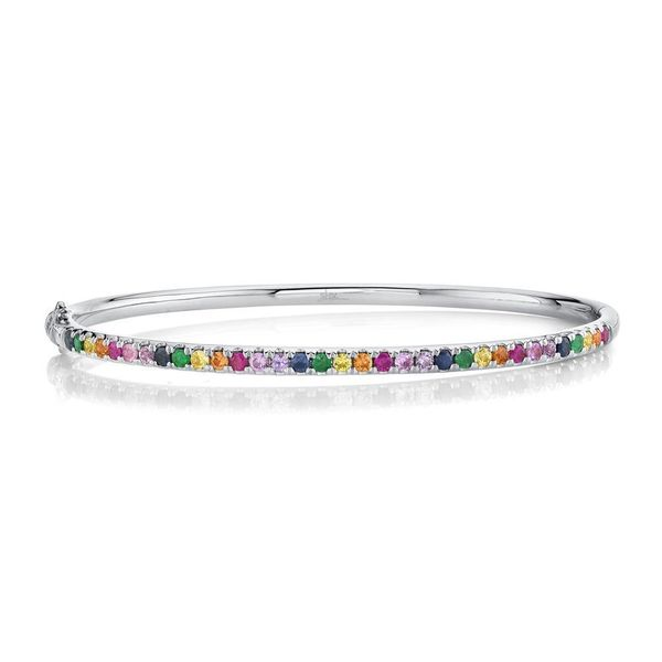 1.18tw Multi Colour Gemstone Bangle in White Gold La Mine d Or Moncton, NB