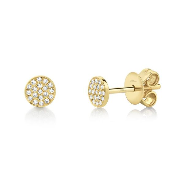 0.07tw Diamond Pave Stud Earrings 14kt Yellow Gold La Mine d Or Moncton, NB