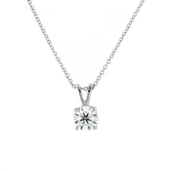 "0.75ct Lumina Round Brilliant Cut Solitaire Pendant with 18"" Adjustable Chain La Mine d'Or Moncton, NB"