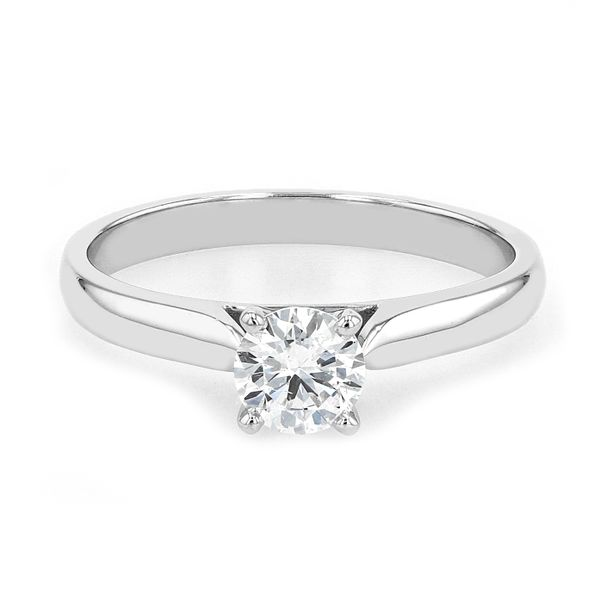 0.51ct Lumina Round Brilliant Diamond Solitaire Engagement Ring La Mine d'Or Moncton, NB