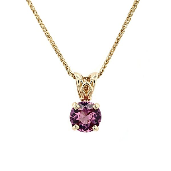 0.74ct Round Pink Spinel Solitaire Pendant La Mine d'Or Moncton, NB