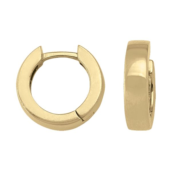 18kt Yellow Gold 12.5mm Huggie Earrings La Mine d Or Moncton, NB