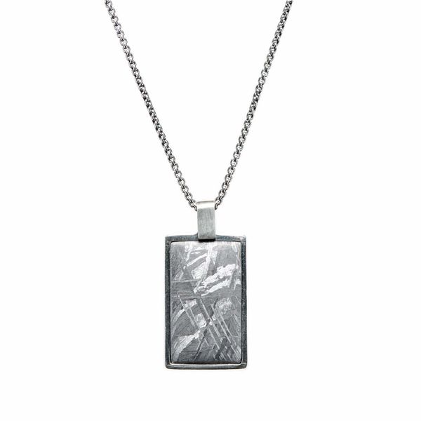 "William Henry Meteorite Shift Pendant in Sterling Silver with Silver Chain, 22"" in Length La Mine d'Or Moncton, NB"