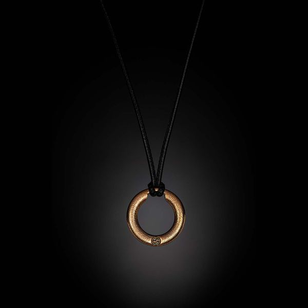 "William Henry Bronze Orbit Pendant on Leather Cord, 22"" in Length Image 2 La Mine d'Or Moncton, NB"