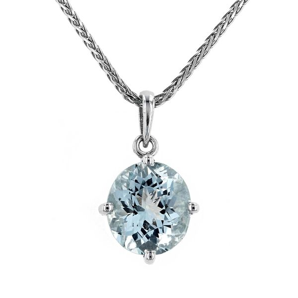 3.37tw Genuine Aquamarine Pendant in 14kt White Gold La Mine d Or Moncton, NB