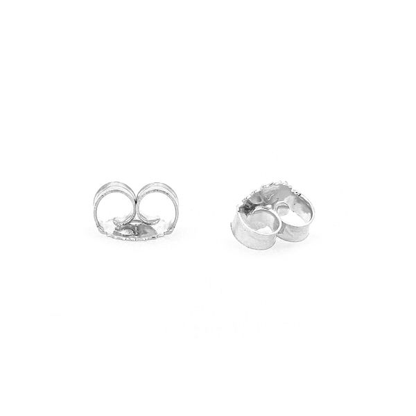 Freshwater White Pearl Stud Earrings set in 14kt White Gold Image 2 La Mine d Or Moncton, NB
