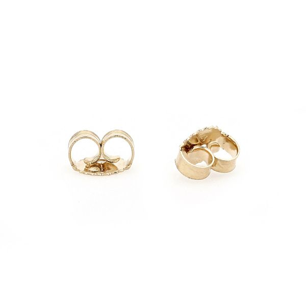Freshwater White Pearl Stud Earrings set in 14kt Yellow Gold Image 2 La Mine d Or Moncton, NB