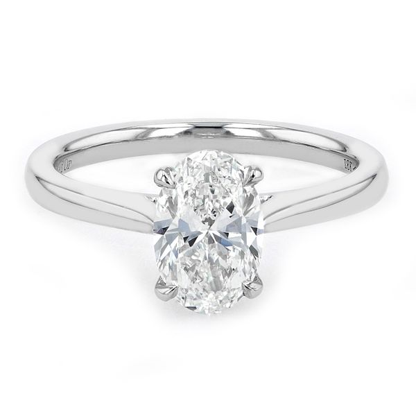 1.29ct Prive Oval Solitaire Engagement Ring 18kt White Palladium Gold La Mine d Or Moncton, NB