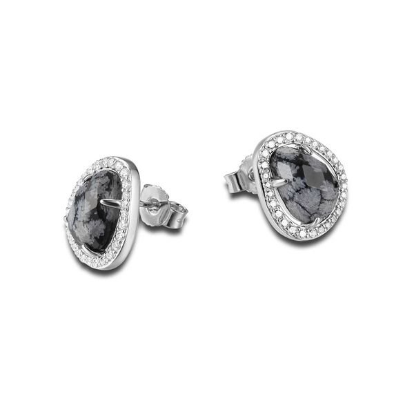 "Elle Design ""Halo"" Collection Sterling Silve Snowflake Studs La Mine d'Or Moncton, NB"