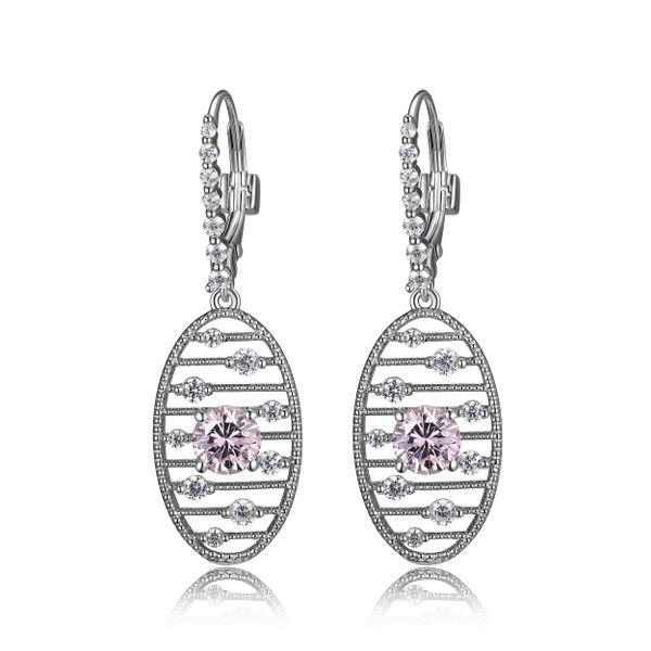 "Elle Design ""Starburst"" Collection Pink Cubic Oval Drop Earrings La Mine d'Or Moncton, NB"