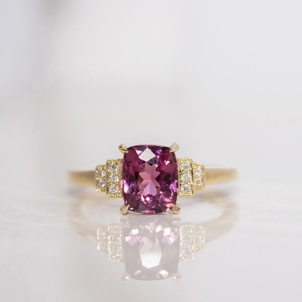 1.93ct Cushion Cut Spinel & Diamond Ring Image 4 La Mine d Or Moncton, NB