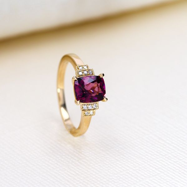 1.93ct Cushion Cut Spinel & Diamond Ring Image 3 La Mine d Or Moncton, NB