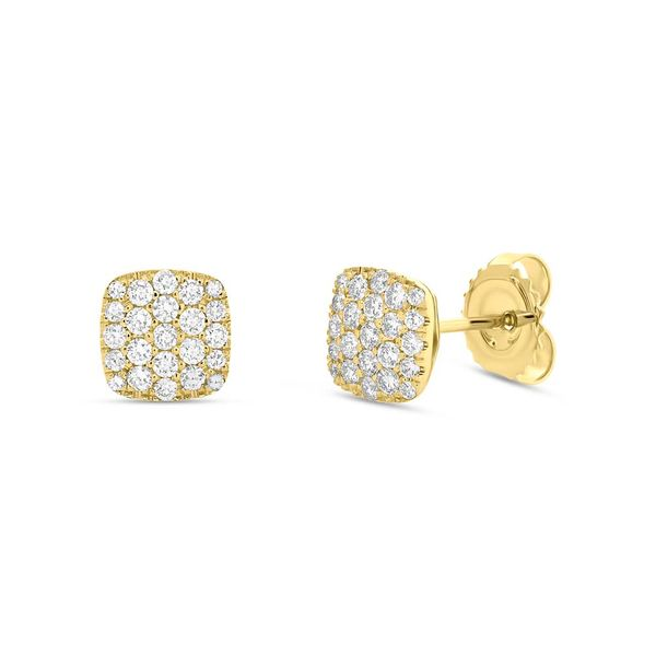 0.50tw Diamond Pave Stud Earrings La Mine d'Or Moncton, NB