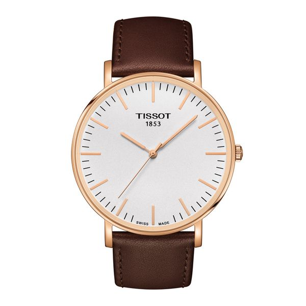 Tissot Rosetone Everytime Watch with Round Dial and Brown Strap La Mine d'Or Moncton, NB