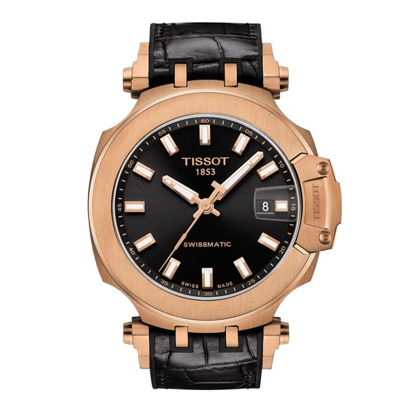 Tissot Rosetone T-Race Swissmatic Watch with Round Black Dial and Black Strap La Mine d'Or Moncton, NB