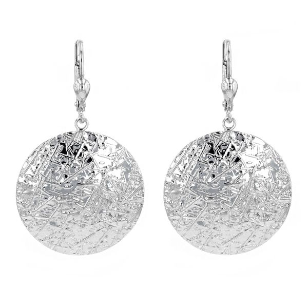 10kt White Gold Designed Dangly Earrings La Mine d'Or Moncton, NB