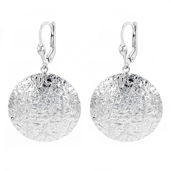 10kt White Gold Designed Dangly Earrings Image 2 La Mine d'Or Moncton, NB