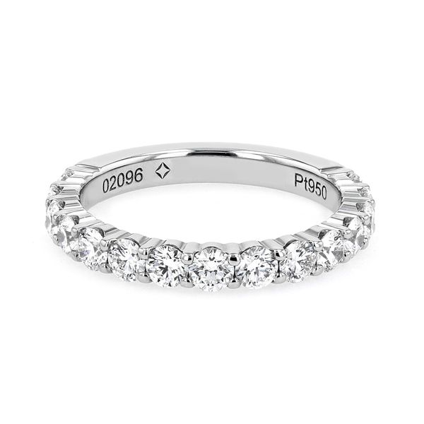1.25tw Forevermark Diamonds in Double Shared Prong Platinum Band La Mine d Or Moncton, NB