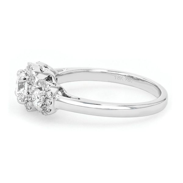 1.00tw Forevermark Diamond Trinity Halo Style Engagement Ring Image 2 La Mine d'Or Moncton, NB