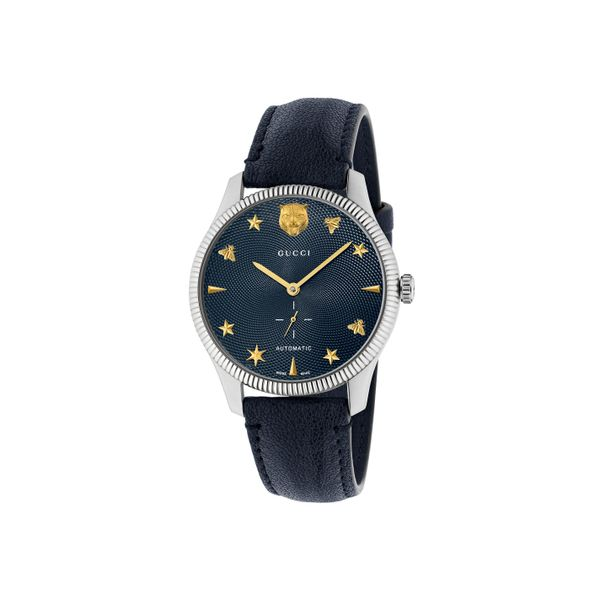 Gucci G-Timeless 40mm Automatic Stainless Steel with Navy Strap La Mine d'Or Moncton, NB