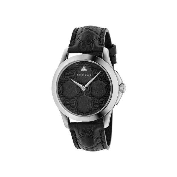 Gucci G-Timeless 38mm Quartz Stainless Steel Black Dial and Strap La Mine d'Or Moncton, NB
