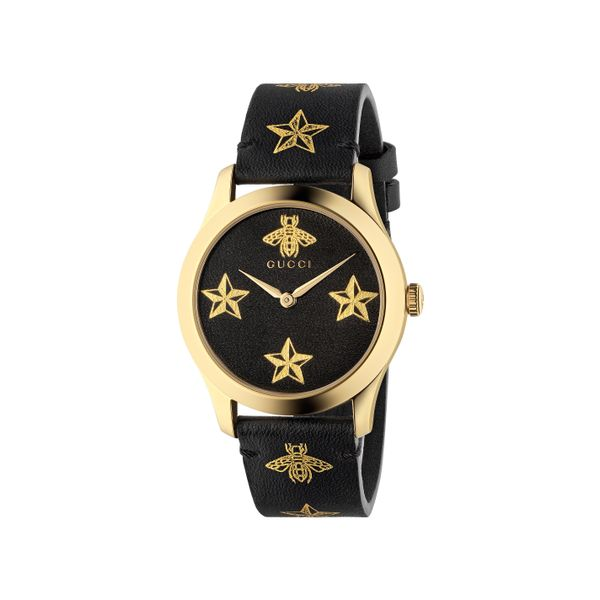 Gucci G-Timeless 38mm Quartz Goldtone PVD Star Bees Dial and Strap La Mine d'Or Moncton, NB