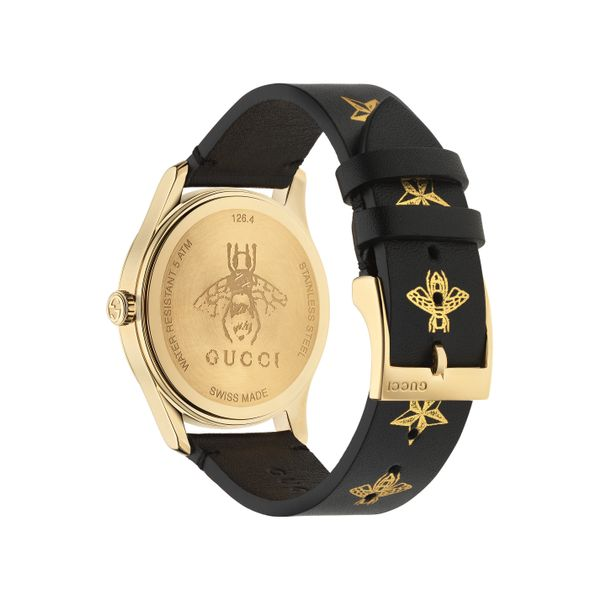 Gucci G-Timeless 38mm Quartz Goldtone PVD Star Bees Dial and Strap Image 2 La Mine d'Or Moncton, NB