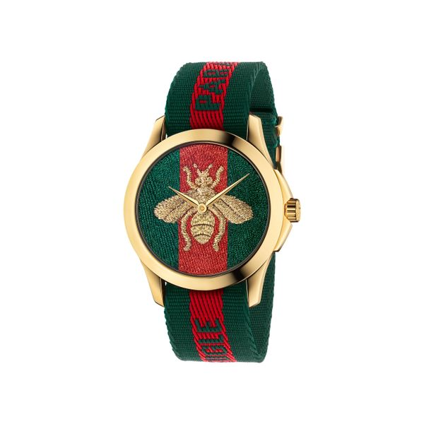 Gucci G-Timeless 38mm Quartz Le Marche Des Merveilles Red and Green La Mine d Or Moncton, NB