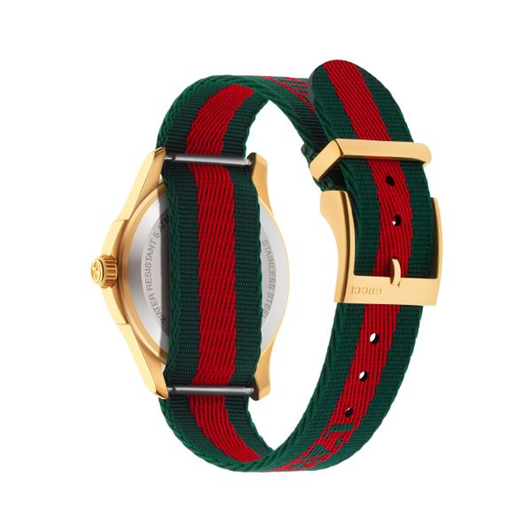 Gucci G-Timeless 38mm Quartz Le Marche Des Merveilles Red and Green Image 2 La Mine d Or Moncton, NB