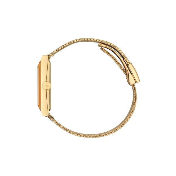 Gucci G-Frame Goldtone CRB MOP Dial with Interchangeable Mesh Bracelet Image 3 La Mine d'Or Moncton, NB