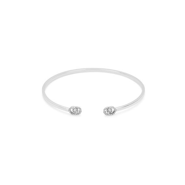 0.105ct Gucci Running G Cuff Diamond Bangle in 18kt White Gold La Mine d'Or Moncton, NB