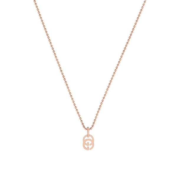 Gucci Running G Necklace with Double G Pendant in 18kt Rose Gold La Mine d'Or Moncton, NB