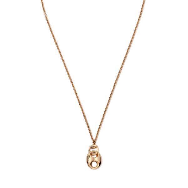 Gucci Marina Link Necklace in 18kt Yellow Gold with Marina Pendant La Mine d Or Moncton, NB