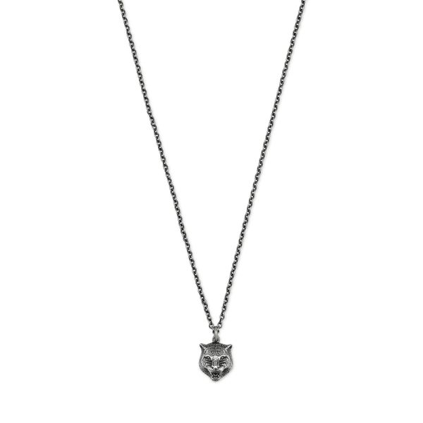 Gucci Aged Sterling Silver Gatto Necklace 60cm=24 inches La Mine d Or Moncton, NB