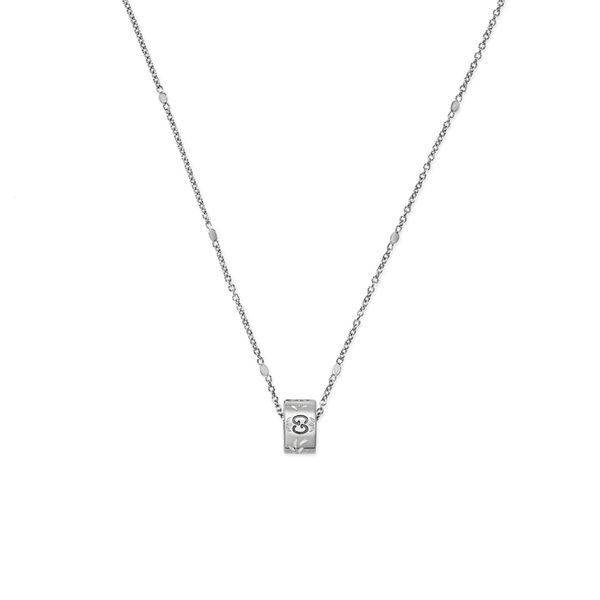 18kt White Gold Gucci Icon Pendant La Mine d'Or Moncton, NB