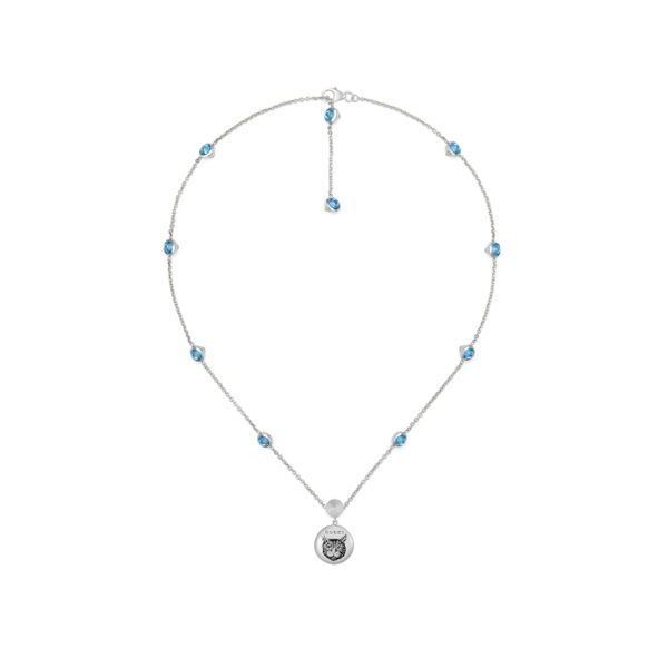 Gucci Blind for Love Necklace in Sterling Silver with Blue Zirconia La Mine d'Or Moncton, NB