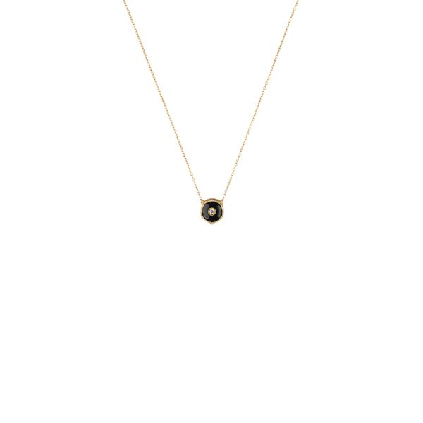 Gucci Le Marche Des Merveilles Black Onyx & Diamond Necklace La Mine d Or Moncton, NB