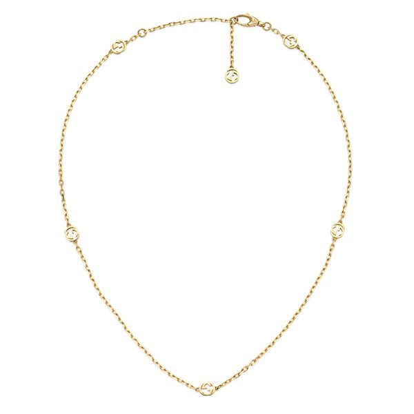 18kt Yellow Gold Gucci Interlocking G Necklace La Mine d'Or Moncton, NB