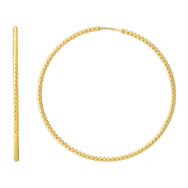 Gucci 60mm Large Hoop Earring in 18kt Yellow Gold La Mine d'Or Moncton, NB