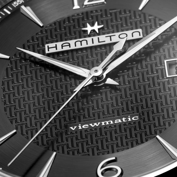Hamilton Stainless JazzMaster Viewmatic Automatic with Black Dial and Tan Strap Image 2 La Mine d Or Moncton, NB