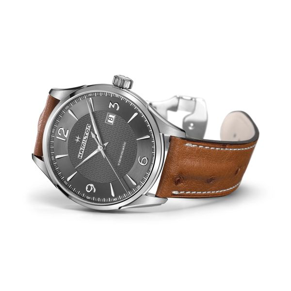 Hamilton Stainless JazzMaster Viewmatic Automatic with Black Dial and Tan Strap Image 3 La Mine d Or Moncton, NB